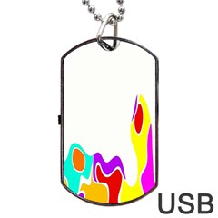 Simple Abstract With Copyspace Dog Tag USB Flash (One Side)
