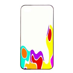 Simple Abstract With Copyspace Apple Iphone 4/4s Seamless Case (black)