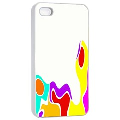 Simple Abstract With Copyspace Apple Iphone 4/4s Seamless Case (white)