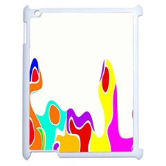 Simple Abstract With Copyspace Apple iPad 2 Case (White)