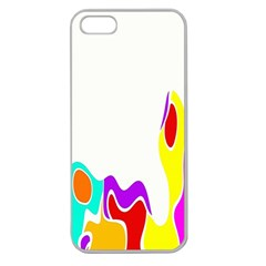 Simple Abstract With Copyspace Apple Seamless iPhone 5 Case (Clear)