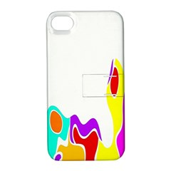 Simple Abstract With Copyspace Apple iPhone 4/4S Hardshell Case with Stand