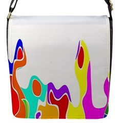Simple Abstract With Copyspace Flap Messenger Bag (S)