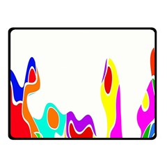 Simple Abstract With Copyspace Double Sided Fleece Blanket (Small)