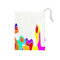 Simple Abstract With Copyspace Drawstring Pouches (Medium)