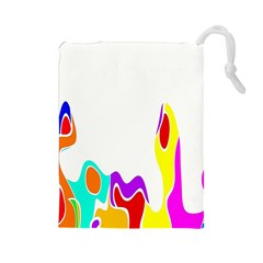 Simple Abstract With Copyspace Drawstring Pouches (Large)
