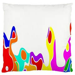 Simple Abstract With Copyspace Large Flano Cushion Case (Two Sides)