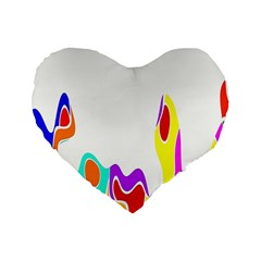 Simple Abstract With Copyspace Standard 16  Premium Flano Heart Shape Cushions