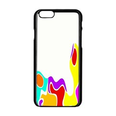 Simple Abstract With Copyspace Apple Iphone 6/6s Black Enamel Case