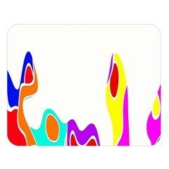 Simple Abstract With Copyspace Double Sided Flano Blanket (Large)