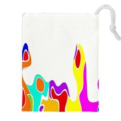 Simple Abstract With Copyspace Drawstring Pouches (xxl)