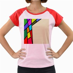 Digitally Created Abstract Page Border With Copyspace Women s Cap Sleeve T-Shirt