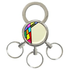 Digitally Created Abstract Page Border With Copyspace 3-Ring Key Chains