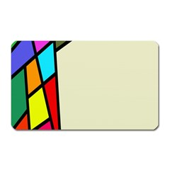 Digitally Created Abstract Page Border With Copyspace Magnet (Rectangular)