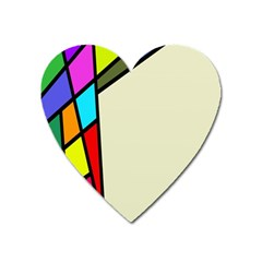 Digitally Created Abstract Page Border With Copyspace Heart Magnet