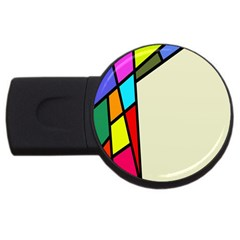 Digitally Created Abstract Page Border With Copyspace USB Flash Drive Round (2 GB)