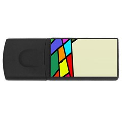 Digitally Created Abstract Page Border With Copyspace USB Flash Drive Rectangular (2 GB)