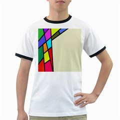 Digitally Created Abstract Page Border With Copyspace Ringer T-Shirts