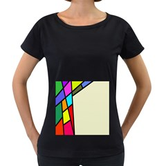 Digitally Created Abstract Page Border With Copyspace Women s Loose Fit T Shirt (black)