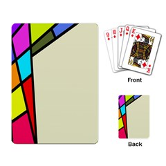Digitally Created Abstract Page Border With Copyspace Playing Card