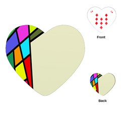 Digitally Created Abstract Page Border With Copyspace Playing Cards (Heart)