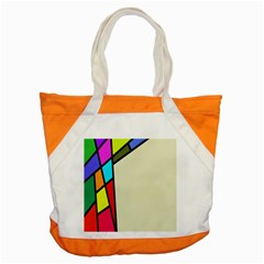 Digitally Created Abstract Page Border With Copyspace Accent Tote Bag