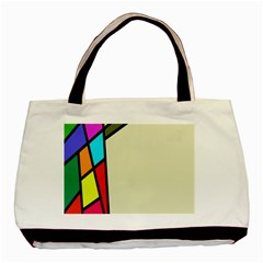 Digitally Created Abstract Page Border With Copyspace Basic Tote Bag (two Sides)