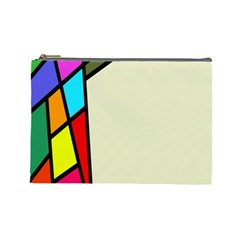Digitally Created Abstract Page Border With Copyspace Cosmetic Bag (large)