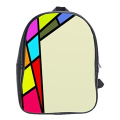 Digitally Created Abstract Page Border With Copyspace School Bags(large)