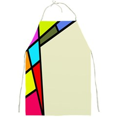 Digitally Created Abstract Page Border With Copyspace Full Print Aprons