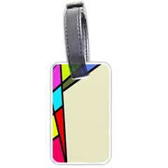 Digitally Created Abstract Page Border With Copyspace Luggage Tags (two Sides)