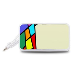 Digitally Created Abstract Page Border With Copyspace Portable Speaker (White)
