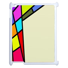 Digitally Created Abstract Page Border With Copyspace Apple Ipad 2 Case (white)