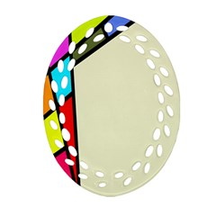 Digitally Created Abstract Page Border With Copyspace Oval Filigree Ornament (two Sides)
