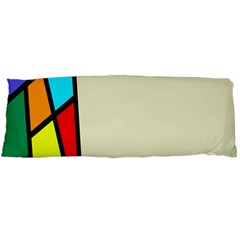 Digitally Created Abstract Page Border With Copyspace Body Pillow Case (Dakimakura)