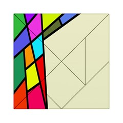 Digitally Created Abstract Page Border With Copyspace Acrylic Tangram Puzzle (6  X 6 )