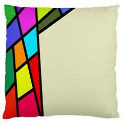 Digitally Created Abstract Page Border With Copyspace Large Cushion Case (One Side)