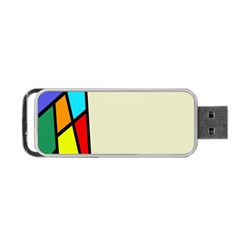 Digitally Created Abstract Page Border With Copyspace Portable USB Flash (Two Sides)