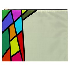 Digitally Created Abstract Page Border With Copyspace Cosmetic Bag (xxxl)