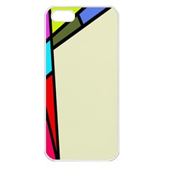 Digitally Created Abstract Page Border With Copyspace Apple iPhone 5 Seamless Case (White)