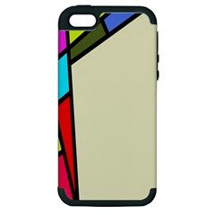 Digitally Created Abstract Page Border With Copyspace Apple iPhone 5 Hardshell Case (PC+Silicone)