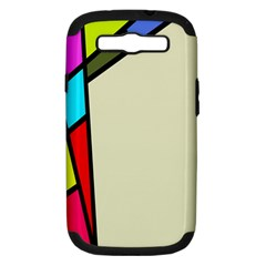 Digitally Created Abstract Page Border With Copyspace Samsung Galaxy S III Hardshell Case (PC+Silicone)