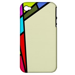 Digitally Created Abstract Page Border With Copyspace Apple iPhone 4/4S Hardshell Case (PC+Silicone)