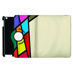 Digitally Created Abstract Page Border With Copyspace Apple iPad 2 Flip 360 Case
