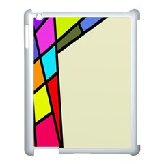 Digitally Created Abstract Page Border With Copyspace Apple Ipad 3/4 Case (white)