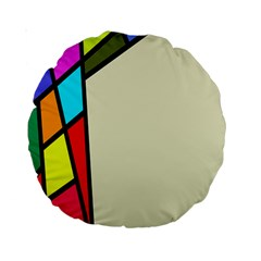 Digitally Created Abstract Page Border With Copyspace Standard 15  Premium Round Cushions