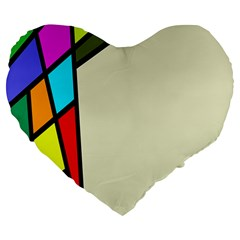 Digitally Created Abstract Page Border With Copyspace Large 19  Premium Heart Shape Cushions