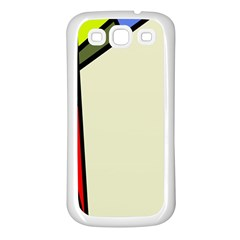 Digitally Created Abstract Page Border With Copyspace Samsung Galaxy S3 Back Case (white)