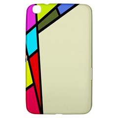 Digitally Created Abstract Page Border With Copyspace Samsung Galaxy Tab 3 (8 ) T3100 Hardshell Case