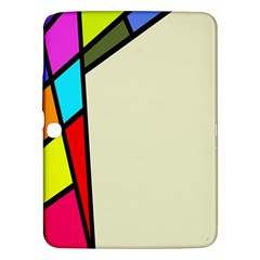 Digitally Created Abstract Page Border With Copyspace Samsung Galaxy Tab 3 (10.1 ) P5200 Hardshell Case